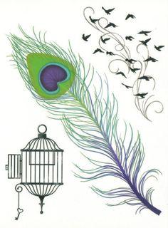 Designer Large Sheet Feather Birds Temporary Tattoo   eBay