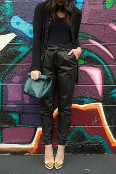 Our Masako Leather Pant making an appearance on Chi City Fashion.