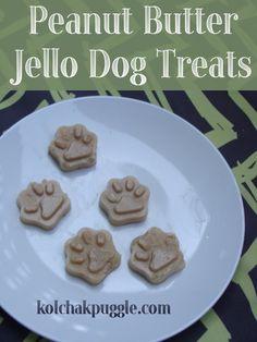 Peanut Butter Jello Easy Dog Treats