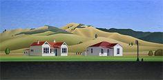 Brian Dahlberg // 'On the road to the Republic' Whangamomona #Art #Landscape #Oil #Painting #NewZealand