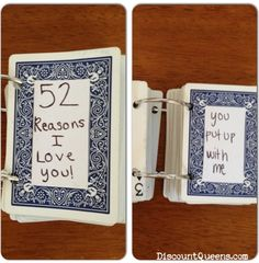 52 reasons i love you cards 52 Weeks of Pinterest: Week 6   52 Reasons I Love You Valentines Day Craft!