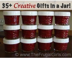 35 Creative Gifts in a Jar Recipes! via TheFrugalGirls.com #jar #recipes #masonjar