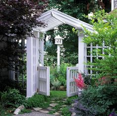 Arbor with gated garden entry