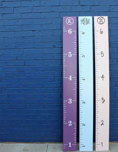 DIY Growth Chart Ruler Vinyl Decal by LittleAcornsByRo on Etsy, $5.00 Colored?