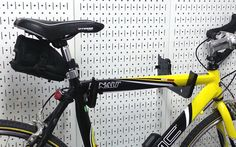 The Wall Control Heavy Duty Pegboard Hook is the perfect pegboard hook for bikes!