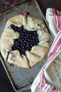 Blueberry galette http://www.hungrybrownie.com/blueberry-galette/