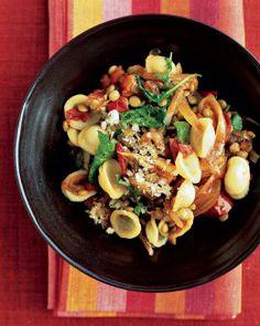 Pasta with Lentils and Arugula Recipe
