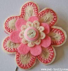 {D.I.Y Tutorial} Stitched Felt Flowers- Part 2