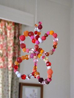 Hanging butterfly in beads x