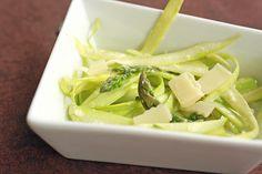 Shaved Asparagus with Parmesan Vinaigrette