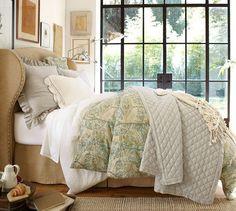 Crochet Trimmed Standard Sham | Pottery Barn