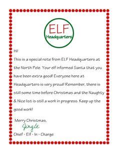 Letter From Elf on the Shelf   Scribd