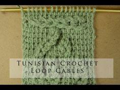 Tunisian Crochet Loop Cables - YouTube