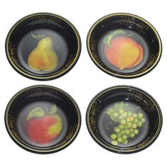 Fruit Filigree Pasta Bowl - Set of 4