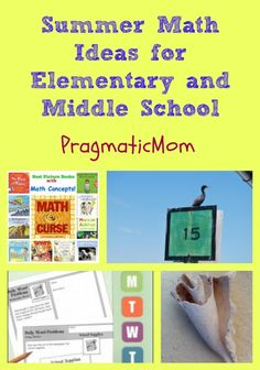 Summer Math Ideas for Elementary and Middle School. My summer math plan for my kids, bribery required. :: PragmaticMom