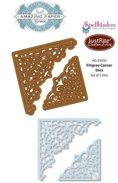 JustRite Papercrafts | Spellbinders | Filigree Corner Dies| Becca Feeken Dies | Amazing Paper Grace Dies