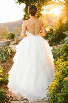 Wedding Gown by JLM Couture | See the wedding on SMP - http://www.StyleMePretty.com/2014/01/10/malibu-wedding-at-rancho-del-cielo/ Laura Goldenberger Photography