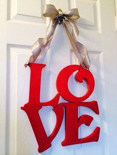 Valentines Day Wreath, LOVE Wreath, NEW Valentines Decor, Wedding Wreath  on Etsy, $65.00