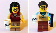 Lego librarians! Adorable.