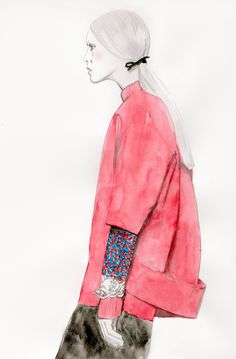 Chic fashion illustration // Charissa van der Vlies for Jil Sander