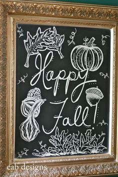 fall chalkboard @Jennifer Milsaps L Corcelli ..for your porch