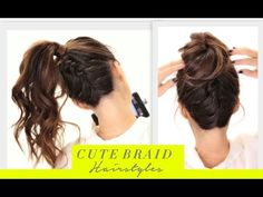 ★2 Cute BRAIDS BACK-TO-SCHOOL HAIRSTYLES | Braided Messy Bun Hairstyle