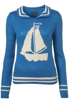 cute sailboat sweater