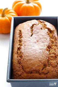 Coconut Oil Pumpkin Bread | gimmesomeoven.com #fall #recipe