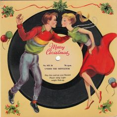 junk shop juke box: Under the mistletoe