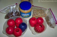 How to stuff a kong toy with dog treats! #dogs