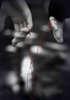 """An invisible red thread connects those who are destined to meet regardless of time, place or circumstance. The thread may stretch or tangle but it will never break."" - Chinese Proverb."