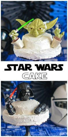 Star Wars cake tutorial for Star Wars birthday parties and baby showers