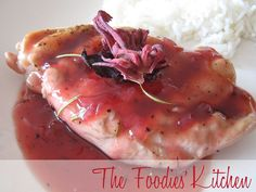 Grilled Chicken with Roselle-Rosemary Sauce by The Foodies' Kitchen, via Flickr