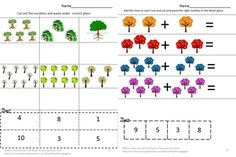 Everybody loves trees. Some provide shade; some provide food and some shelter for birds. Students can have fun cutting and pasting while practicing various skills. This Trees For All Seasons Worksheet set consists of the following worksheets; Color Matching What Comes Next Letter-upper case, low case Matching Shape Matching Number Matching Counting Addition Subtraction Which is one is different Which group has more? Which group has less? Count the trees