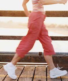 Woman power walking
