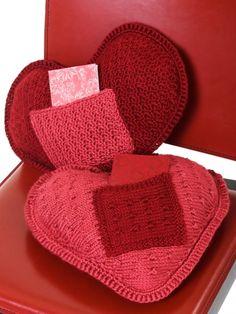 I Love U Pillow | Yarn | Free Knitting Patterns | Crochet Patterns | Yarnspirations