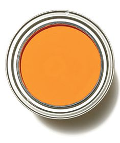 Tangerine: The perfect orange paint color Benjamin Moore Carrot Stick 2016-30. If you aren't bold enough to try it on your walls, try one of these paint projects: http://www.realsimple.com/home-organizing/home-improvement/painting/update-decor-easy-paint-projects-10000001666202/index.html Orang Paint, Wall Paint Orange, Orange Wall Paint, Orange Paint Colors, Bold Paint Colors, Orange Painted Walls, Carrot Stick, Orange Wall Color, Benjamin Moore Orange