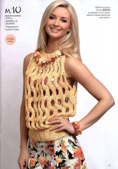 Openwork Top free knitting graph pattern