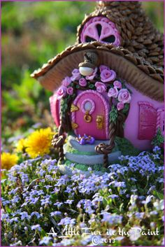 Fairy House shown at A Little Fur in the Paint.
