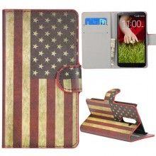 Funda LG G2 - Flip Libro Bandera USA  $ 84,21