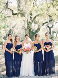 Blue and White Wedding Ideas - Brittany and Tanners Wedding at Honey Horn Plantation wedding bridesmaid dresses, flower dresses, the dress, wedding bridesmaids, blue bridesmaid dresses, honey horn