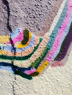 graffiti paint detail.