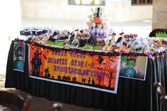 Treats table for a Halloween Party #halloween #party