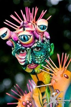 the first South Korean Body Painting Competition