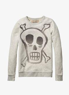 Scotch Shrunk Skull Rocker Sweatshirt