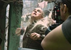 The graceful, elegant elf in the wild. Hahahahah oh I didn't think Legolas could look unattractive.