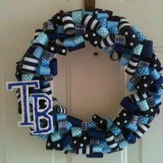 Tampa Bay Rays wreath. Thanks pinterest!