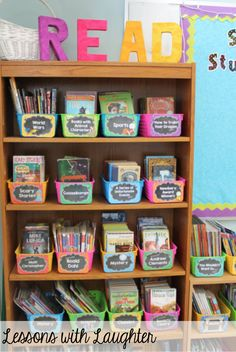 Classroom Library Organization by Lessons with Laughter