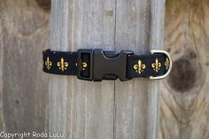 New Orleans Saints Dog Collar  Adjustable by RodaLuLu on Etsy, $8.00