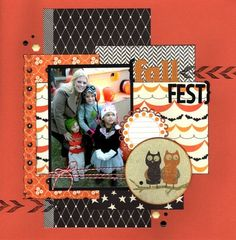 #papercraft #scrapbook #layout. Fall Fest (Pinterest Challenge) : Gallery : A Cherry On Top